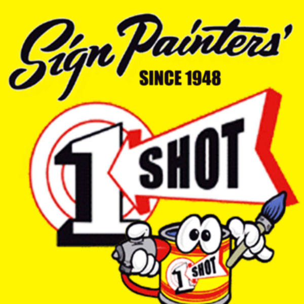 One shot lettering enamel central sign supplies inc oneshot logo publicscrutiny Image collections